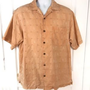 Tommy Bahama Only Money Silk Shirt Vintage Fade S